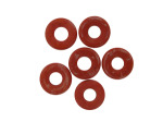 17MM Coral Colored Donut Stone Beads