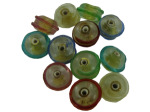 Swirl Round Lampwork Glass Bead Mix