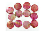 12MM Silver Rec Fw Shell Beads