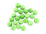 8MM Green Chalk Turq Rnd Stone Bead