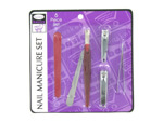 Nail manicure set, 6 pieces