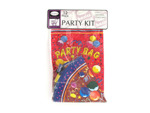 Party kit with hats, blowers and loot bags, set of 12