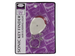 Sonic key finder with flashing light