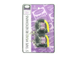 5-foot tape measure keychains, 2 pack