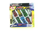 Mini die cast race cars, set of 8