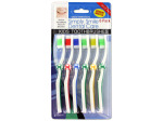 6 Pack childrens wave bristle toothbrushes