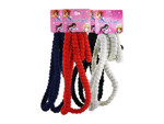 4 pack hair elastics white red blue and black per case