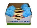 Bath Scrubber with Wood Handle Countertop Display
