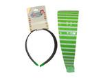 Striped vinyl coated headband