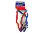 Red, white and blue elastic headbands with bow