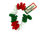 24 pack red/white/green hair ties