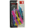 Barrettes, pack of 26 assorted shapes and designs