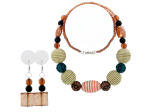 beaded necklace/earrings