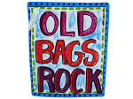 old bags rock luggage tag