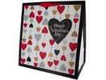 Grand Glitter Heart Print Valentine Gift Bag
