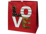 Grand Love Block Print Valentine Gift Bag