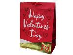 Mega Gold Foil & Glitter Hearts Valentine Gift Bag