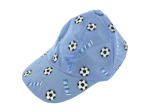 Soccer Design Baby Hat Assorted Blue or Yellow
