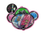 Hair accessory kit in plastic pouch