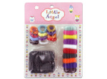 Fabric-covered hair ties, assorted colors and sizes, pack of 24