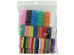 Fabric hair ties, pack of 62