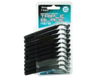 Disposable triple blade razors