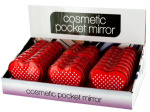 Heart Shaped Cosmetic Pocket Mirror Display