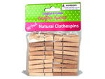 36 Pack natural wood craft clothespins