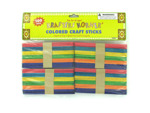 Multi-colored wood craft sticks
