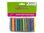 Multicolored wood craft matchsticks