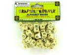 Small wooden alphabet beads