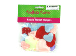 Bag fabric heart shapes, assorted colors