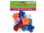 12 piece foam flowers (assorted colors)