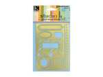 assorted tag shapes solid brass stencil