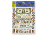 Money stickers for scrapbooking
