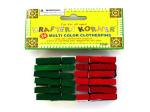 Set of 24 multicolor clothespins