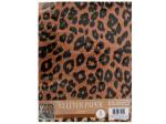 Leopard Print Glitter Paper