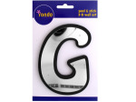 Letter G Peel & Stick Mirror Wall Decor