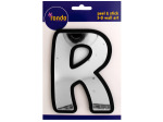 Letter R Peel & Stick Mirror Wall Decor