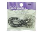 10 piece charm leash black cord