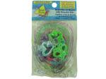 80 piece butterflies/hearts jelly bracelet kits (makes 10)