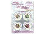 Mini glitter shapes, pack of 4