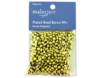 30 grams gold colored plastic beads