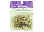 Gold pin backs, pack of 40