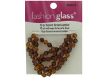 70 pc bicone brown/amber strung glass beads