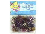 60pc sparkle button flower beads