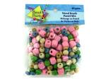 wood beads pastel mix 40 grams