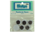 Paste-on googly eyes, round pack of 6