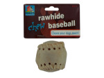 Rawhide baseball dog chew