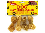 Small rawhide dog bones